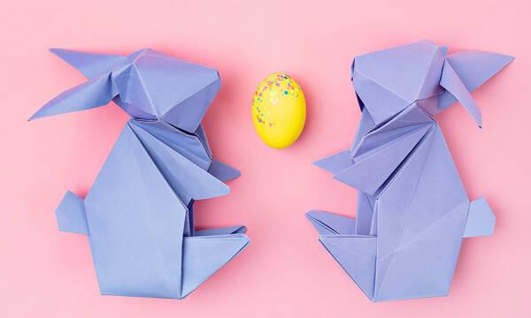 Πασχαλινές χειροτεχνίες origami για παιδιά (vids)