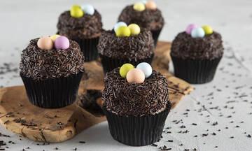 Πασχαλινά cupcakes φωλίτσες - Τα παιδιά θα τα λατρέψουν