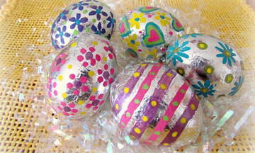 Διακοσμήστε τα πασχαλινά αυγά με αλουμινόχαρτο (pics)