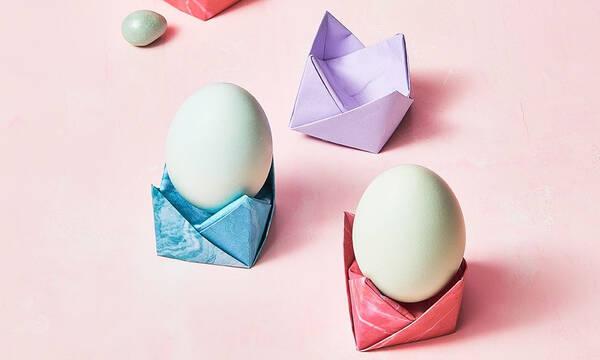 Φτιάξτε αυγοθήκες για τα πασχαλινά σας αυγά πανεύκολα με τη μέθοδο origami