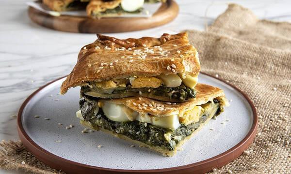 Πίτα με αυγά και σπανάκι - Νόστιμη, υγιεινή και πανεύκολη