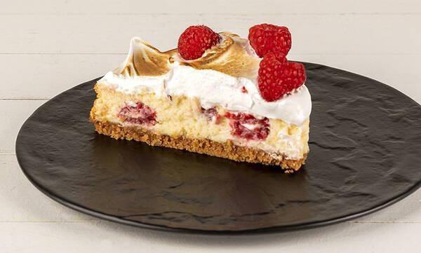 Cheesecake με λευκή σοκολάτα και raspberries