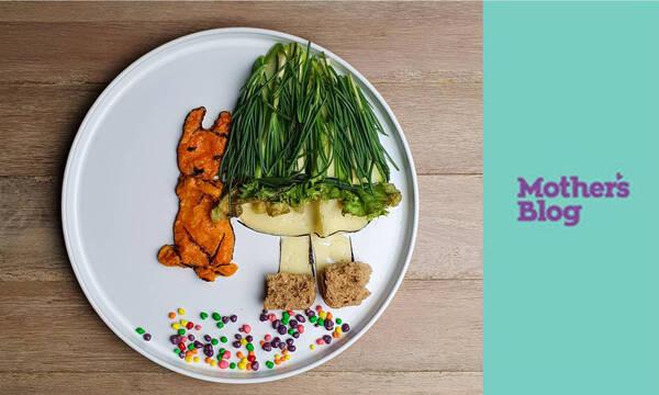 Ένα ευφάνταστο πιάτο για παιδιά με γλυκοπατάτα και αλμύρα