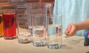 Δραστηριότητες για παιδιά: Παίξτε μουσική με ποτήρια νερού (vid)