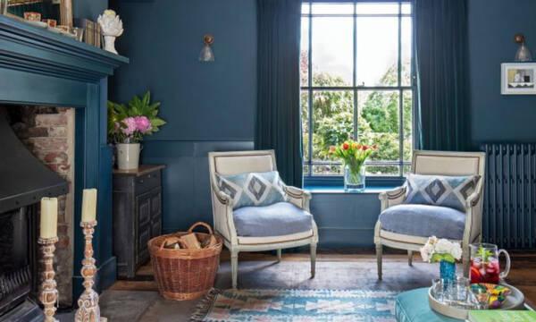 Αυτό το αρχοντικό θα σου δώσει ιδέες για το πώς να εντάξεις το μπλε μέσα στο σπίτι σου (photos)