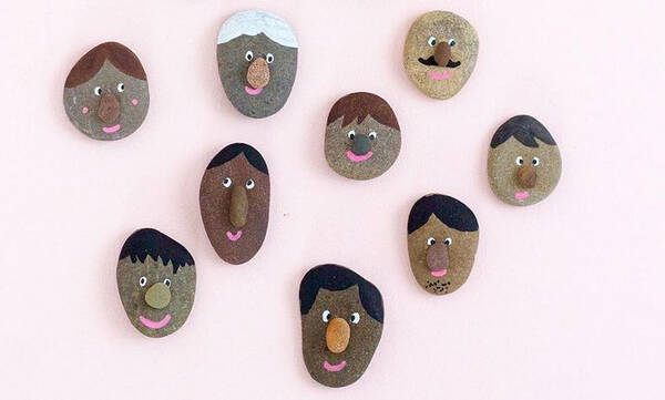 Δραστηριότητες για παιδιά: Ζωγραφίστε πρόσωπα πάνω σε πέτρες (vid)