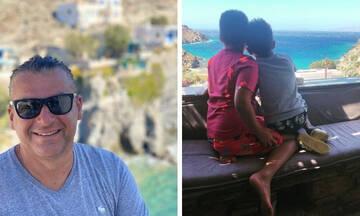 Γιώργος Λιάγκας: Διήμερο στην Κέα με τους γιους του - Φώτο από την εξόρμηση