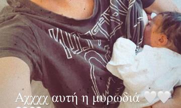 Γεννητούρια στην ελληνική showbiz: Η 1η φώτο με το νεογέννητο στο μαιευτήριο