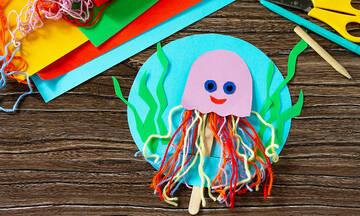 Χειροτεχνίες για παιδιά: Φτιάξτε χταπόδια με χαρτόνι και κλωστές