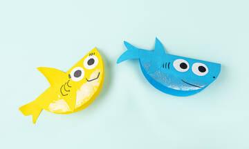 Χειροτεχνίες για παιδιά: Φτιάξτε καρχαριάκια