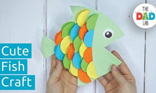 Χειροτεχνίες για παιδιά: Φτιάξτε πολύχρωμα ψαράκια από χαρτί