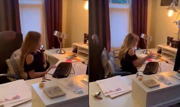 Πιτσιρίκα μιμήθηκε τη μαμά της που βρίσκεται σε τηλεργασία  - Δείτε το βίντεο