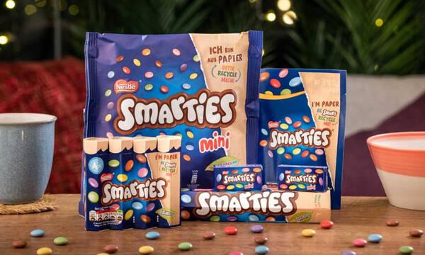 Τα Smarties τώρα σε ανακυκλώσιμη χάρτινη συσκευασία!