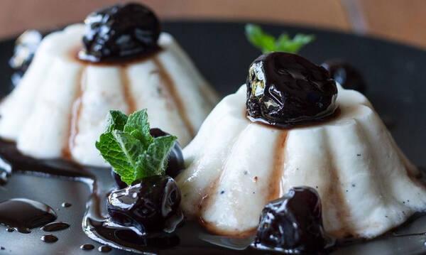 Πανακότα με γιαούρτι και ξινόγαλα - Υγιεινό γλυκό με λίγες θερμίδες