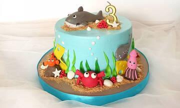 Καλοκαιρινό πάρτι γενεθλίων: 28 ιδέες για τούρτα με θέμα τη θάλασσα