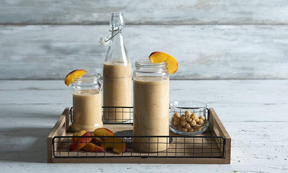 Hummus shake με ροδάκινο - Σούπερ θρεπτικό ρόφημα για παιδιά