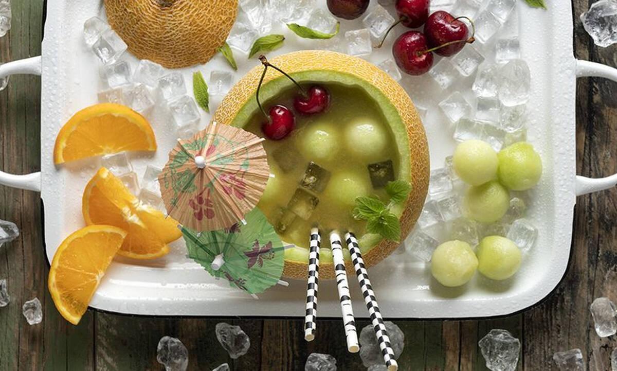 Δροσερό fruit punch πεπόνι με ελάχιστες θερμίδες