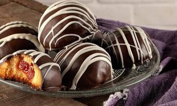 Μπισκότα γεμιστά με λουκούμι - Εύκολα και πολύ νόστιμα