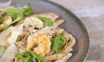 Πένες με γαρίδες αλά κρεμ - Γρήγορο φαγητό έτοιμο σε 20 λεπτά
