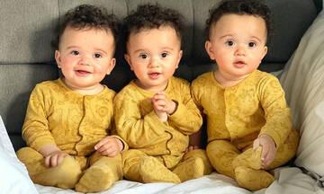 Μαμά ντύνει τα τρίδυμα μωρά της ασορτί και τα φωτογραφίζει (pics)
