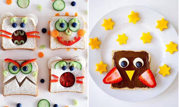 Πρωινό για παιδιά: Δέκα εντυπωσιακά πιάτα με ψωμί του τοστ (εικόνες)