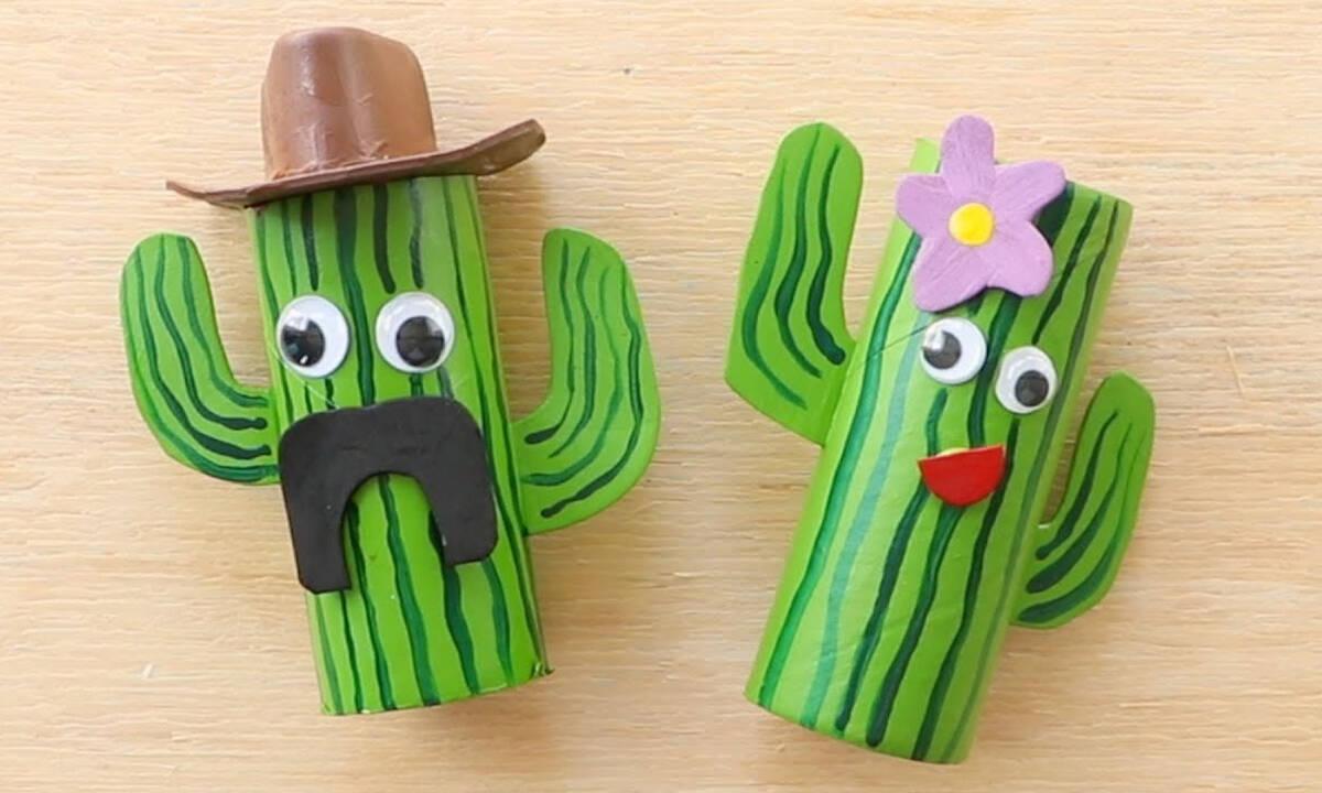 Χειροτεχνίες για παιδιά: Φτιάξτε κακτάκια με ρολό από το χαρτί υγείας
