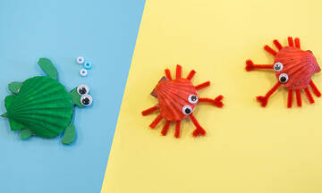 Χειροτεχνίες για παιδιά: Φτιάξτε μαγνητάκια με κοχύλια (εικόνες)