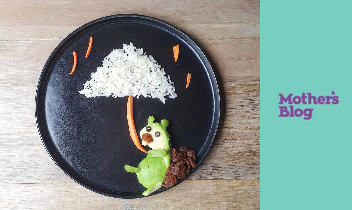 Ρυζοσαλάτα για παιδιά με αβοκάντο και καρότο