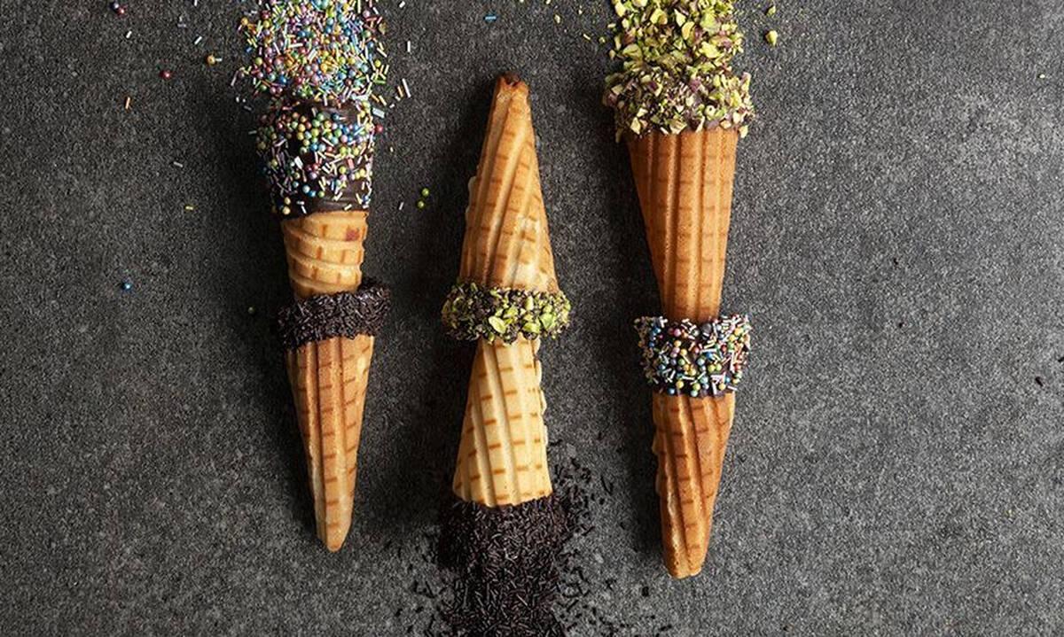 Σπιτικά χωνάκια παγωτού - Δείτε πώς θα τα φτιάξετε
