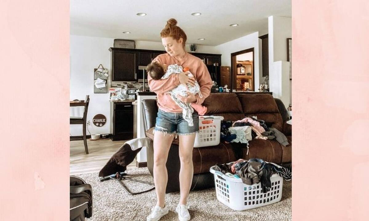 Η μητρότητα έχει πολλές πλευρές και αυτή η μαμά δείχνει μία από αυτές