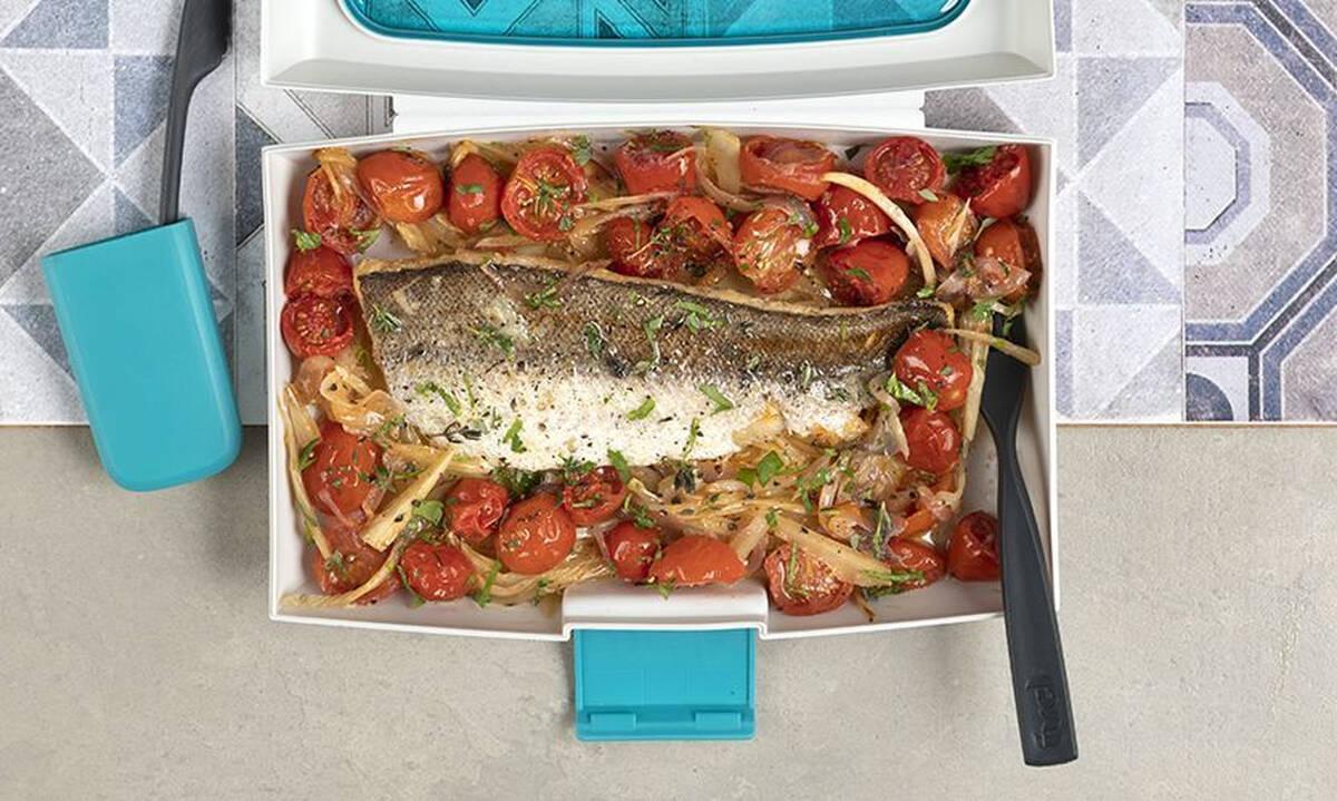 Μπακαλιάρος ψητός με λαχανικά - Υγιεινό φαγητό για όλη την οικογένεια