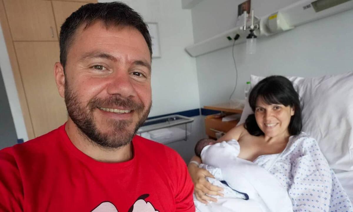 Μπλέτσας- Αστέρη: Νέες φωτογραφίες με την νεογέννητη κόρη τους