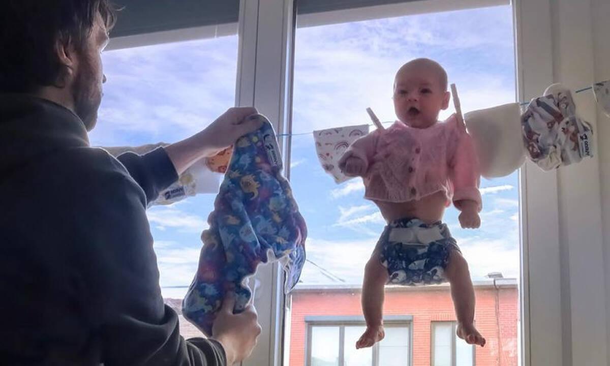 Μπαμπάς φωτογραφίζει τα δύο του παιδιά και κάνει θραύση στο διαδίκτυο