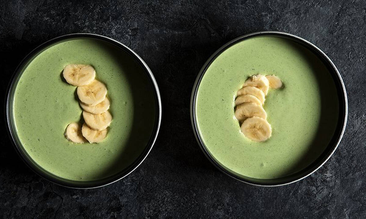 Γιαούρτι με σπανάκι και μπανάνα - Γρήγορο σνακ με λίγες θερμίδες