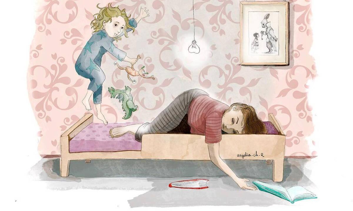Αυτά τα σκίτσα αποτυπώνουν πολλές και διαφορετικές πλευρές της μητρότητας