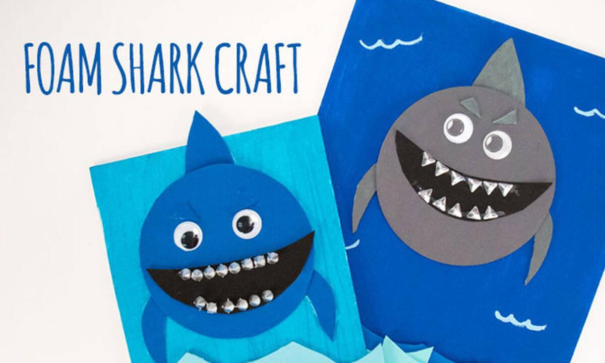 Καλοκαιρινές χειροτεχνίες για παιδιά: Φτιάξτε καρχαριάκια πάνω σε καμβά