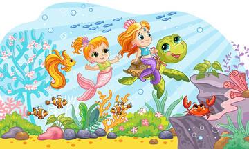 Δέκα χρωμοσελίδες με θαλάσσιες χελώνες (εικόνες για εκτύπωση)