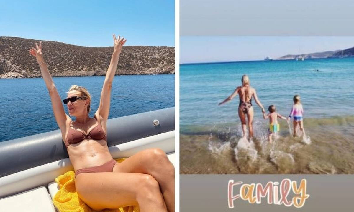 Βίκυ Καγιά: Υπέροχες φωτογραφίες των παιδιών της από τις διακοπές
