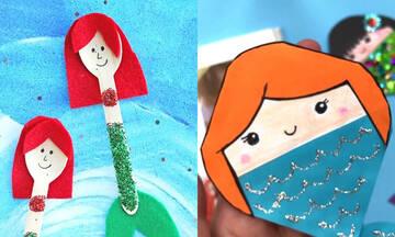 Καλοκαιρινές χειροτεχνίες για παιδιά: Φτιάξτε κατασκευές με γοργόνες