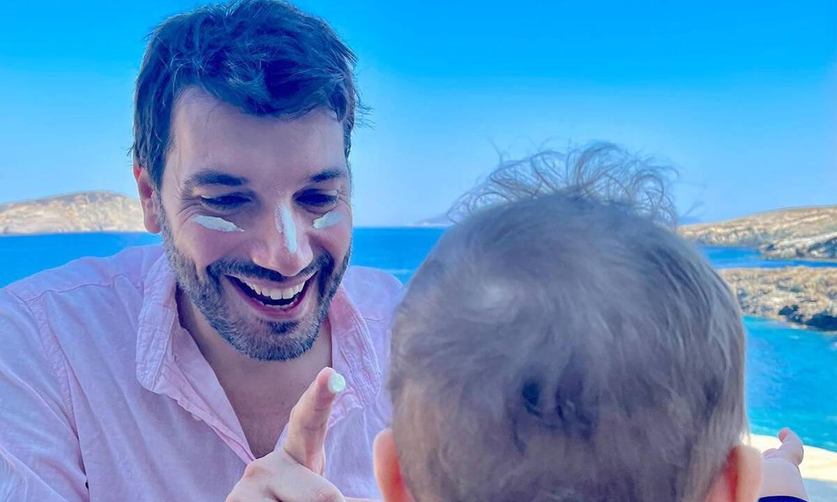 Παναγιώτης Χατζηδάκης: Η φώτο του γιου του από την Κάρυστο και το μήνυμα
