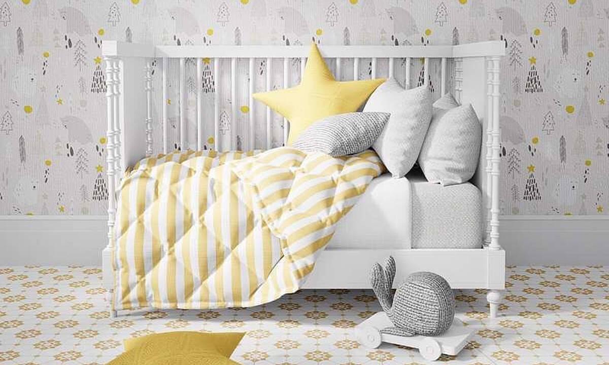 Βρεφικό δωμάτιο: Διακοσμήστε το σε κίτρινες αποχρώσεις (εικόνες)