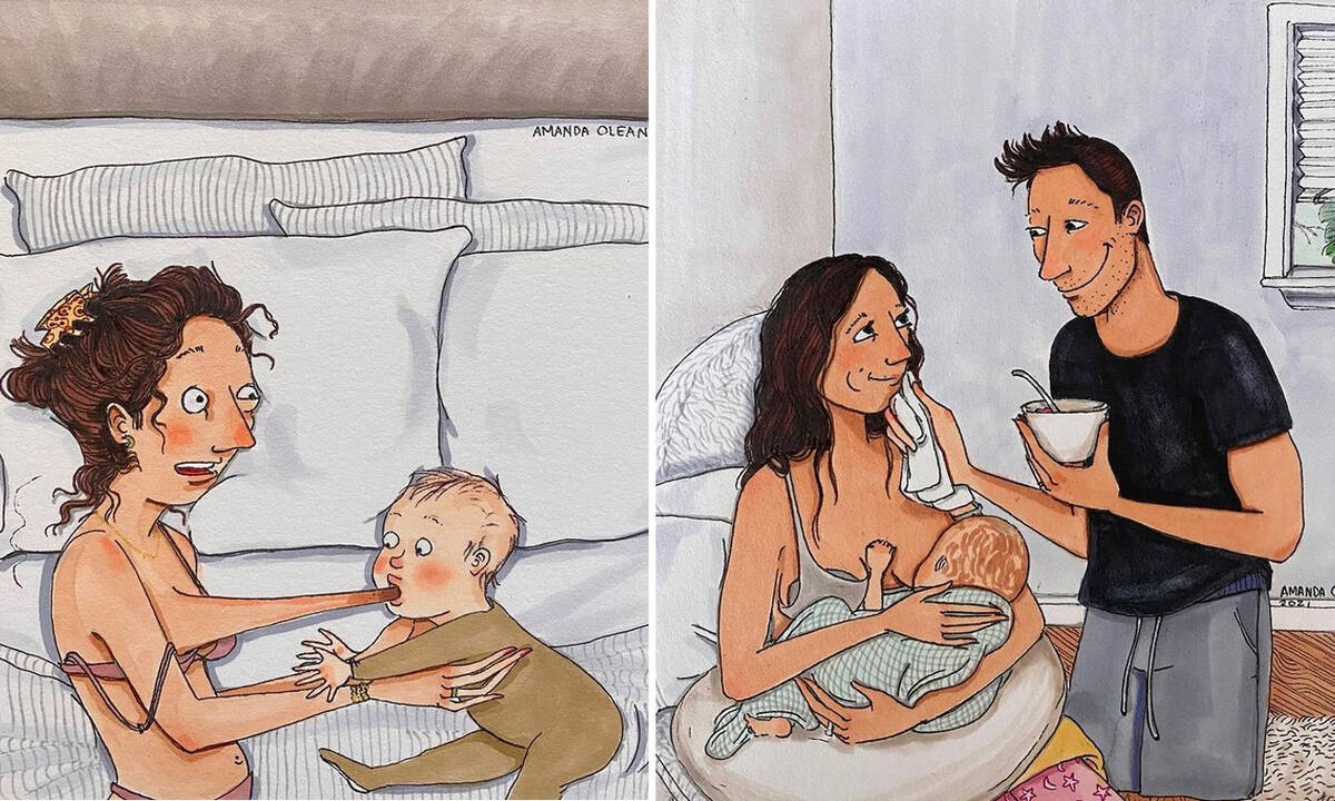 Αυτά τα σκίτσα θα κάνουν κάθε μαμά που θηλάζει να ταυτιστεί