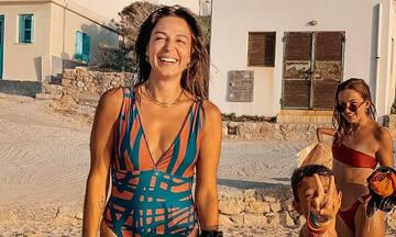 Κατερίνα Παπουτσάκη: Δείτε τη να παίζει κυνηγητό με τον μικρό Κίμωνα