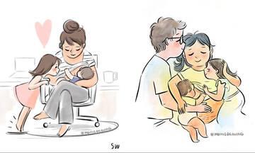 Οικογένεια σημαίνει αγάπη και αυτά τα σκίτσα το αποδεικνύουν (εικόνες)