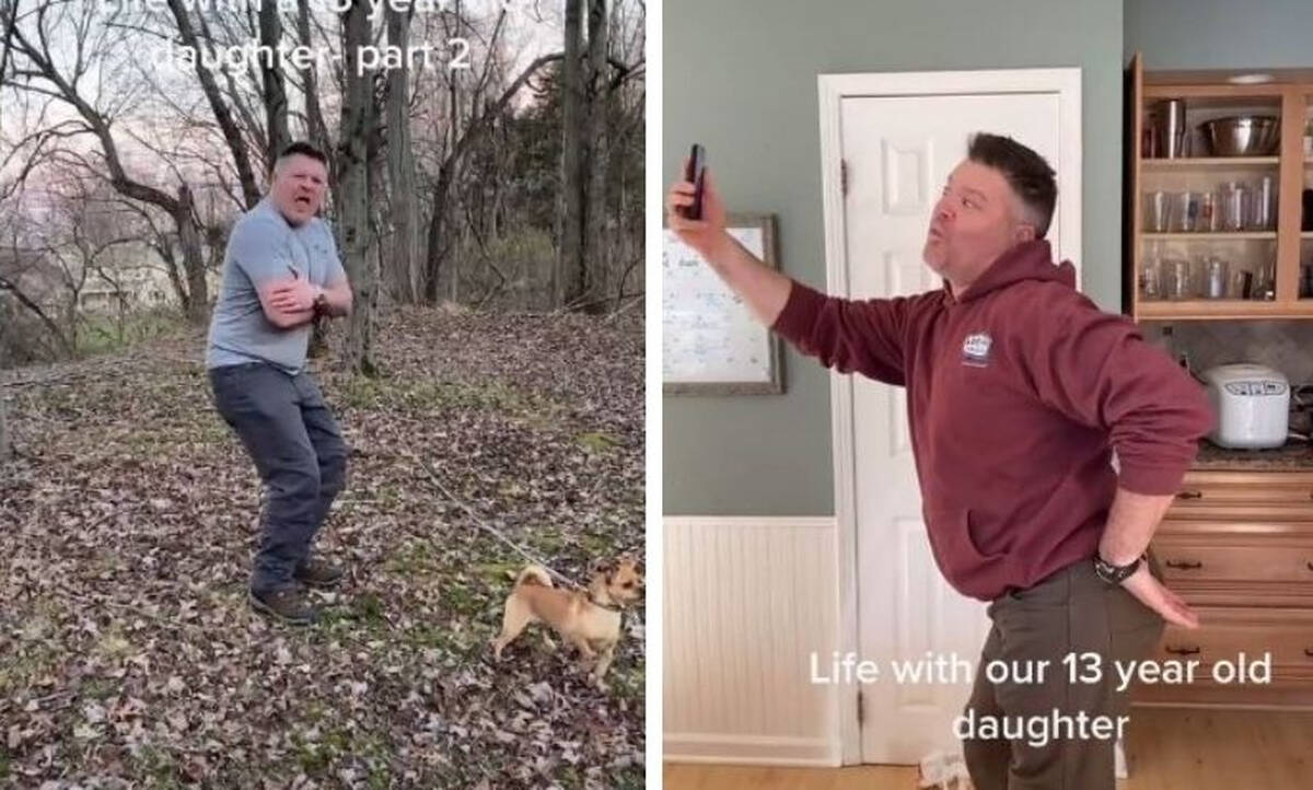 Μπαμπάς δείχνει πώς είναι η ζωή με μια 13χρονη κόρη (vid)