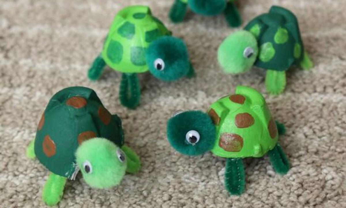 Χειροτεχνίες για παιδιά: Φτιάξτε χελωνίτσες με αυγοθήκες