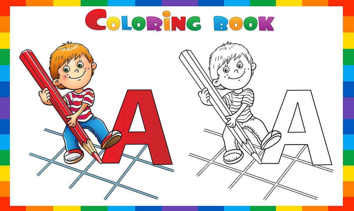 Ζωγραφίζοντας το Α - Χρωμοσελίδες για παιδιά