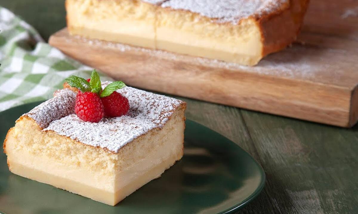 Magic cake: Το ιδιαίτερο κέικ του Άκη με τραγανή βάση και παντεσπάνι