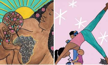 Η μαγεία και οι στιγμές του θηλασμού μέσα από σκίτσα μιας μαμάς
