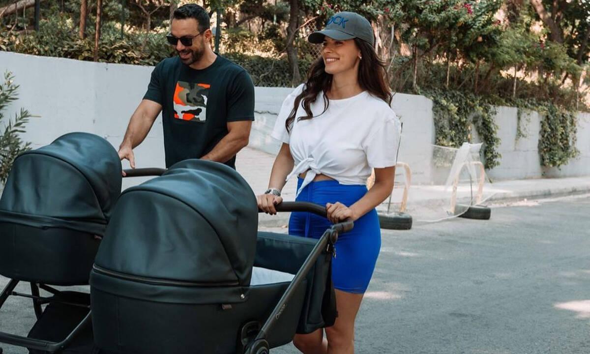 Σάκης Τανιμανίδης: Η Χριστίνα Μπόμπα με τα δίδυμα τον επισκέφτηκαν στο γραφείο